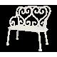Maileg, bänk i metall, off-white,passar minikaniner och möss.